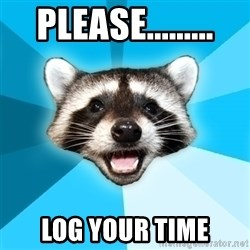 Lame Pun Coon - Please......... Log Your time