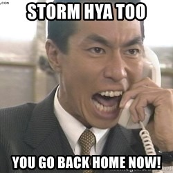 Chinese Factory Foreman - StOrm hya too You go back home now!