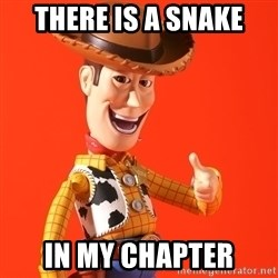Perv Woody - There is a Snake In my Chapter