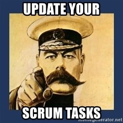 your country needs you - Update your scrum tasks