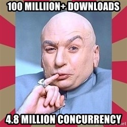Dr. Evil - 100 Milliion+ Downloads 4.8 million concurrency