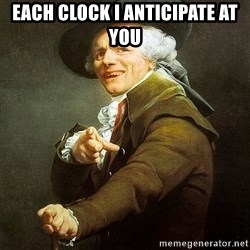 Ducreux - Each clock I anticipate at you
