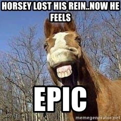 Horse - Horsey lost his REIN..now he feels Epic