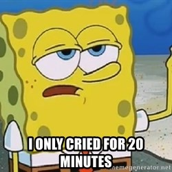 Only Cried for 20 minutes Spongebob - I only cried for 20 minutes