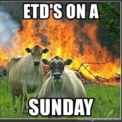 Evil Cows - ETD's on a  sunday