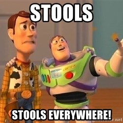 Consequences Toy Story - Stools Stools Everywhere!
