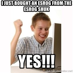 Computer kid - I just bought an Esrog from the Esrog Shuk Yes!!!