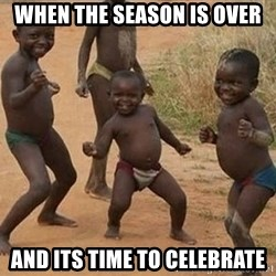 Dancing african boy - When the season is over And its time to celebrate