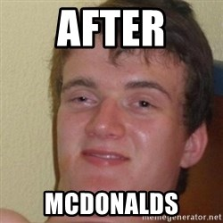 really high guy - after mcdonalds