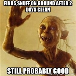 Gollum with ring - Finds Snuff on ground after 2 days clean Still probably good
