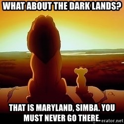 simba mufasa - What About The dark lands? That is maryland, simba. You must never go there.