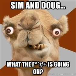Crazy Camel lol - Sim and doug... What the f^*#+ is Going on?