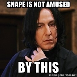 Professor Snape - Snape is not amused by this