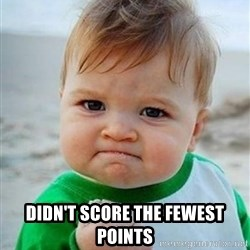 victory kid - Didn't score the fewest points