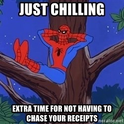 Spiderman Tree - Just chilling extra time for not having to chase your receipts