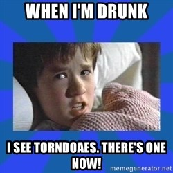 i see dead people - When I'm drunk I see TORNDOAES. There's one now!