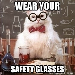 Chemistry Cat - wear your safety glasses