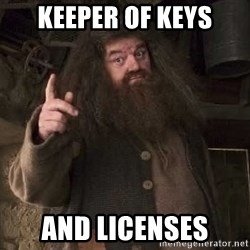 Hagrid - Keeper of keys and licenses