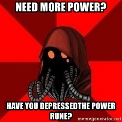 Advice Techpriest - Need more power? have you depressedthe power rune?