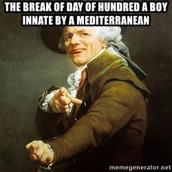 Ducreux - The break of day of hundred a boy innate by a mediterranean