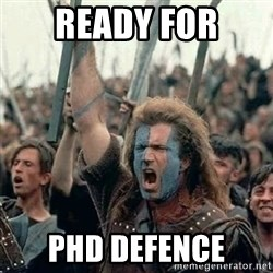 Brave Heart Freedom - ready for phd defence