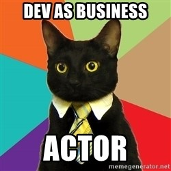 Business Cat - dev as business actor