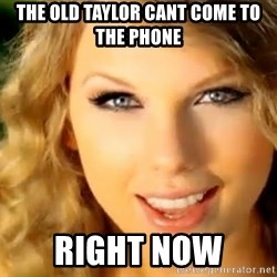 Taylor Swift - The old taylor cant come to the phone  Right now