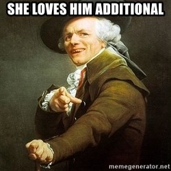 Ducreux - She loves him additional