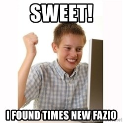 Computer kid - SWEET! i found Times new fazio