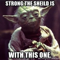 Yoda - Strong the sheild is with this one.