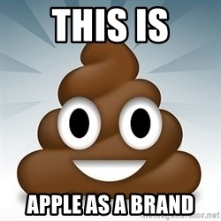 Facebook :poop: emoticon - This is apple as a brand