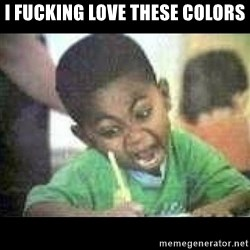 Black kid coloring - I FUCKING LOVE THESE COLORS