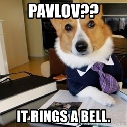 Dog Lawyer - Pavlov?? it Rings a bell.