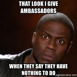 kevin hart nigga - that look i give ambassadors when they say they have nothing to do
