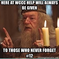 dumbledore fingers - Here at WCCC help will always be given To those who never forget #12