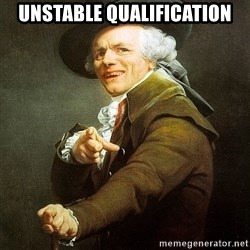 Ducreux - Unstable qualification