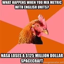 Anti Joke Chicken - What happens when you mix Metric with English Units? Nasa loses a $125 million dollar spacecraft
