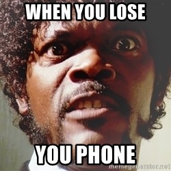 Mad Samuel L Jackson - when you lose  you phone
