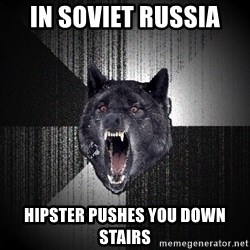 Insanity Wolf - in soviet russia hipster pushes you down stairs
