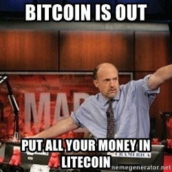 Jim Kramer Mad Money Karma - Bitcoin is out put all your money in litecoin