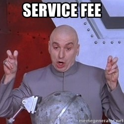 Dr. Evil Air Quotes - service fee