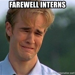 Crying Man - Farewell Interns