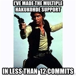 Han Solo - I've made the multiple hakukohde support in less than  12 commits