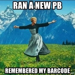 Look at all the things - ran a new pb remembered my barcode