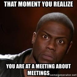 kevin hart nigga - that moment you realize you are at a meeting about meetings