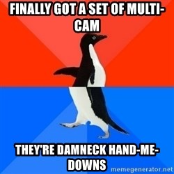 Socially Awesome Awkward Penguin - Finally got a set of multi-cam They're damneck hand-me-downs