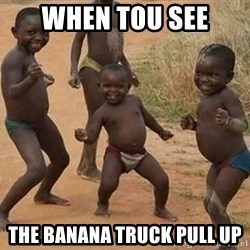 Dancing African Kid - When tou see The banana truck pull up