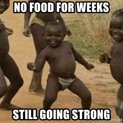 Success African Kid - NO FOOD FOR WEEKS STILL GOING STRONG