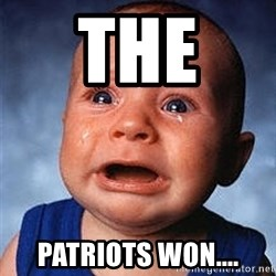 Crying Baby - the  patriots won....