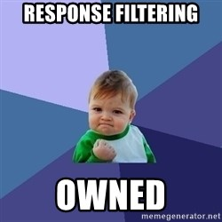 Success Kid - response filtering owned